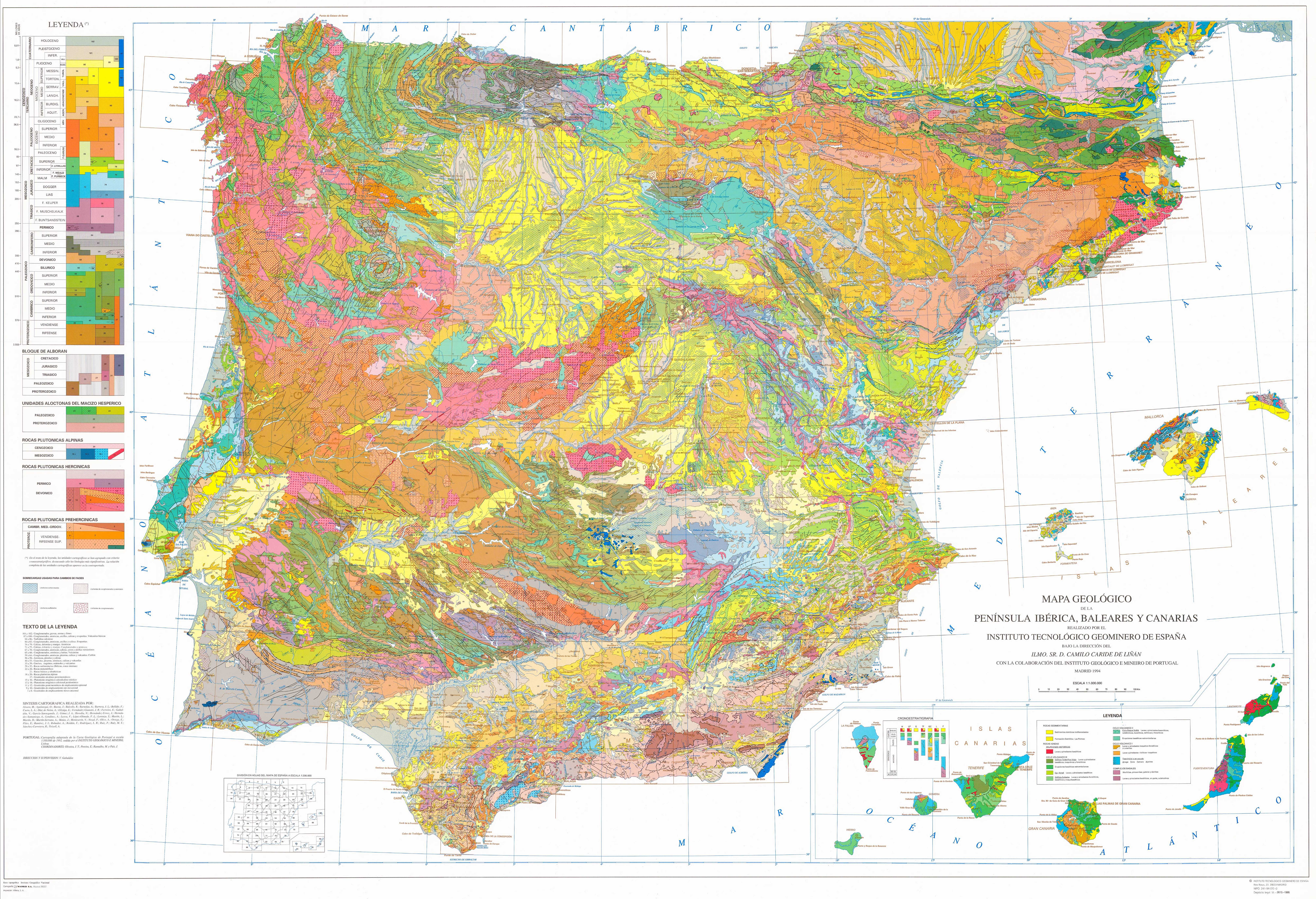Geological map of the iberian peninsula the balearic islands and distributions gumiabroncs Image collections