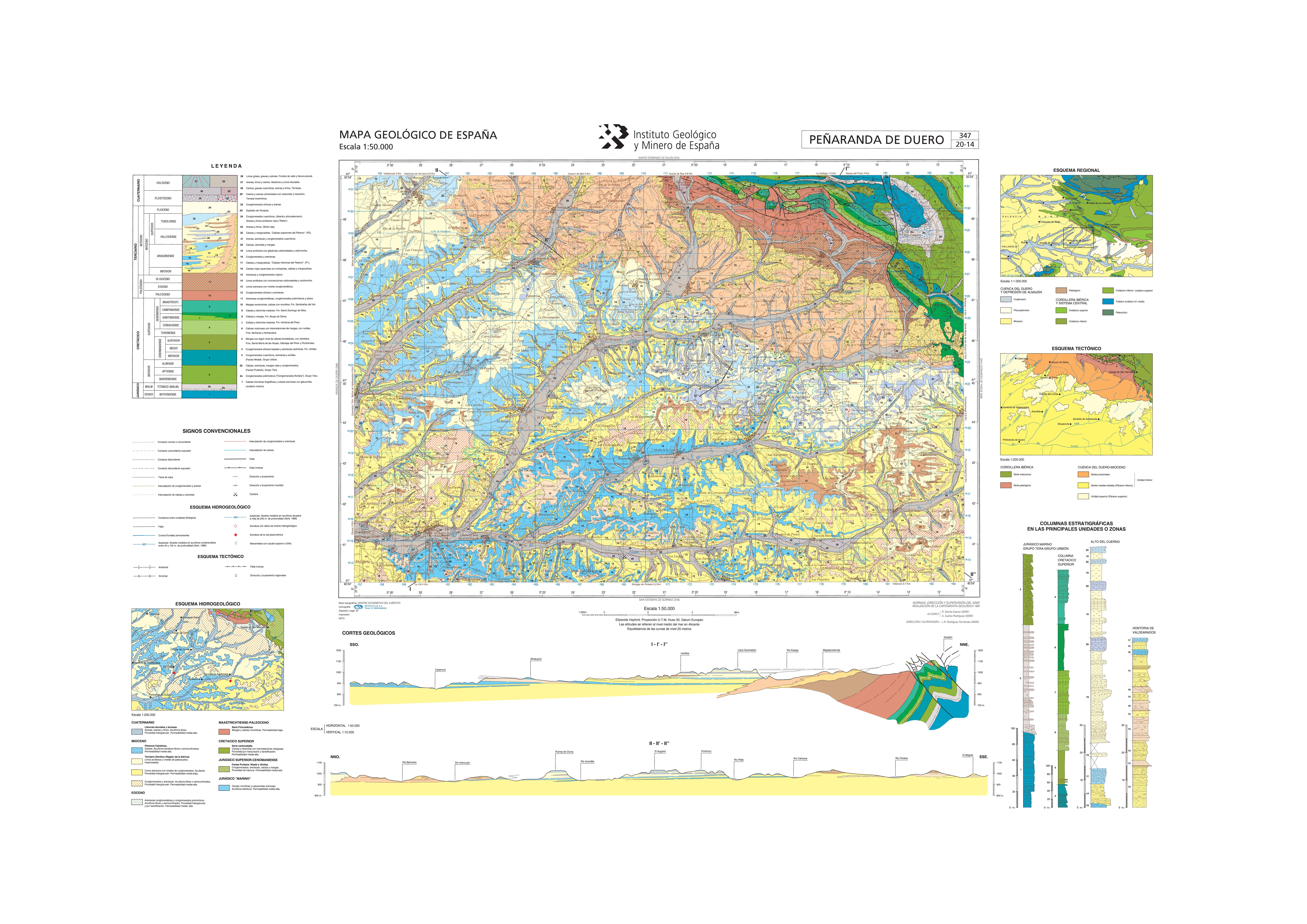 Peñaranda De Duero Mapa.Mapasigme Portal De Cartografia Del Igme Magna 50 Hoja