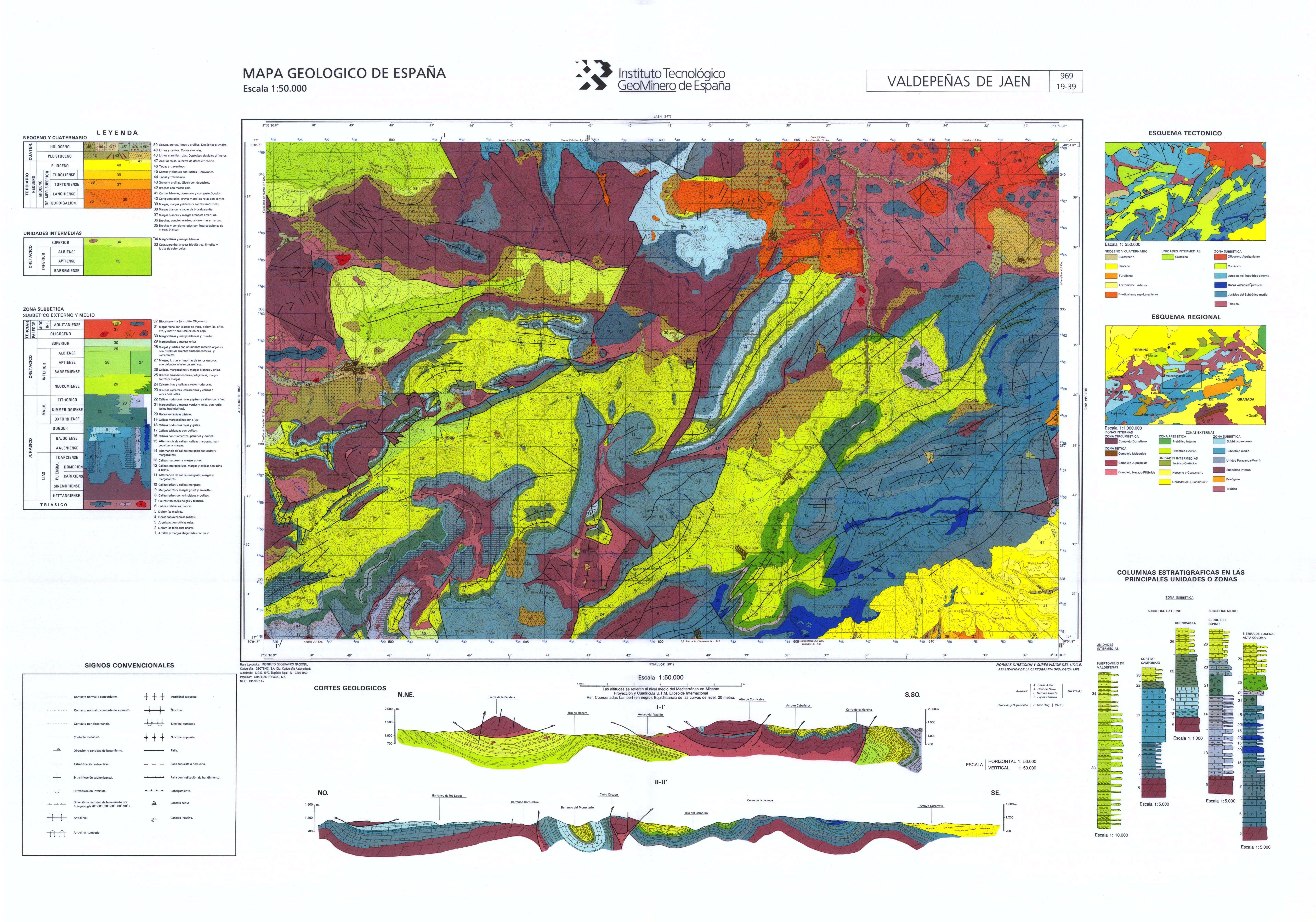 Mapasigme portal de cartograf a del igme magna 50 - Plano de valdepenas ...