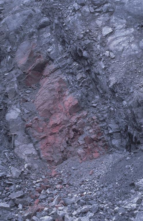 Mineralización estratiforme de la mina de El Entredicho. Banco Inferior