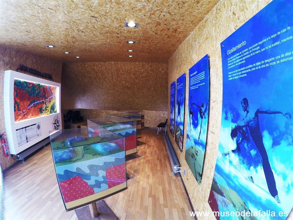 Afloramiento 2: Vista interior de la planta principal del Museo de la Falla de Juzbado.