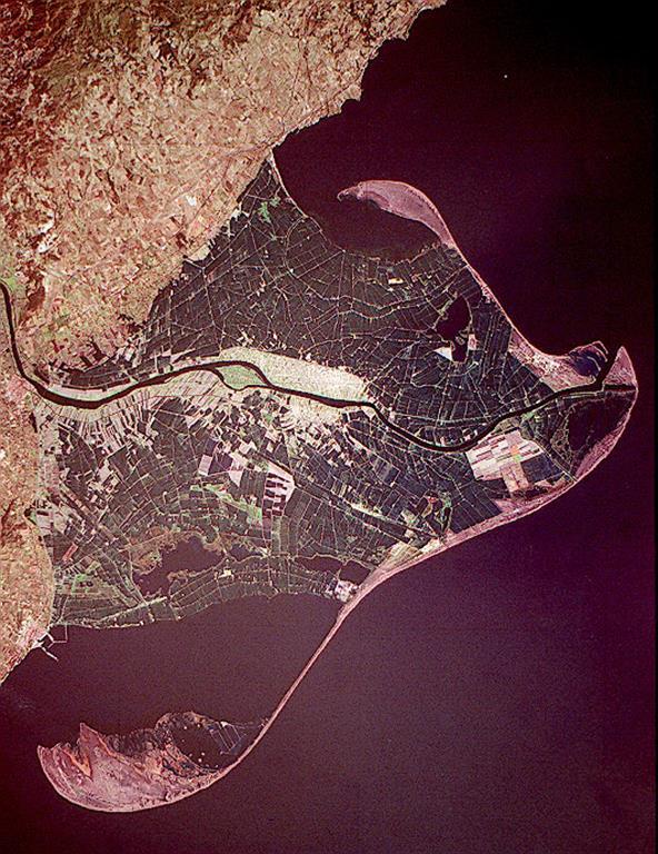 Imagen de satélite, general, del delta (año 1999).