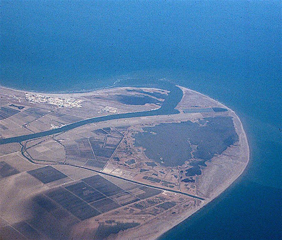 Vista aérea del frente deltaico en el año 2000.