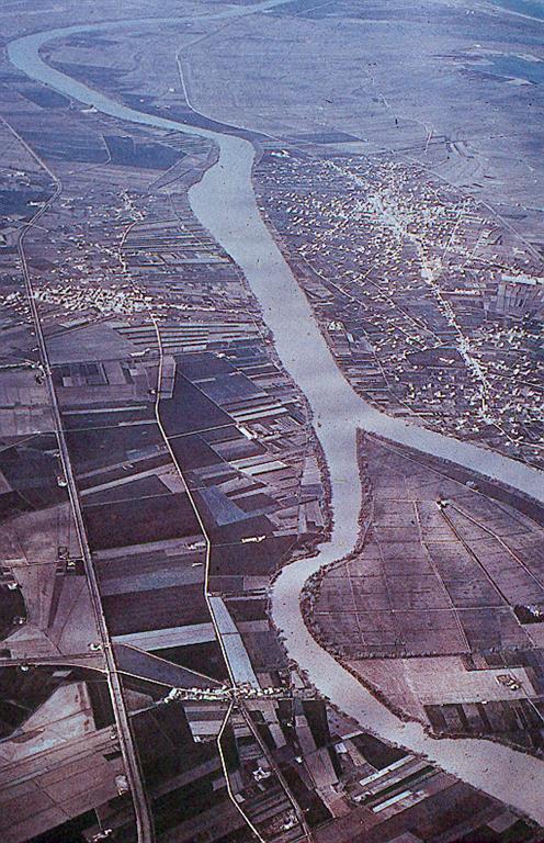 Vista aérea de la Isla de Gracia y llanura deltaica central.