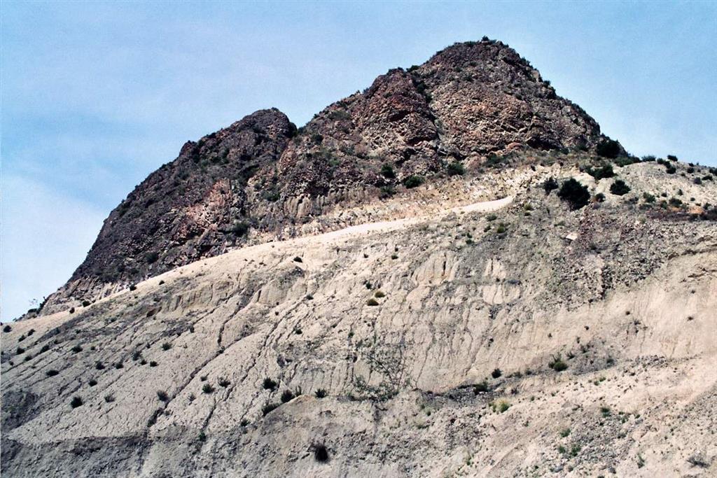 Morfología del extremo oriental del domo volcánico del Cabezo Negro de Zeneta