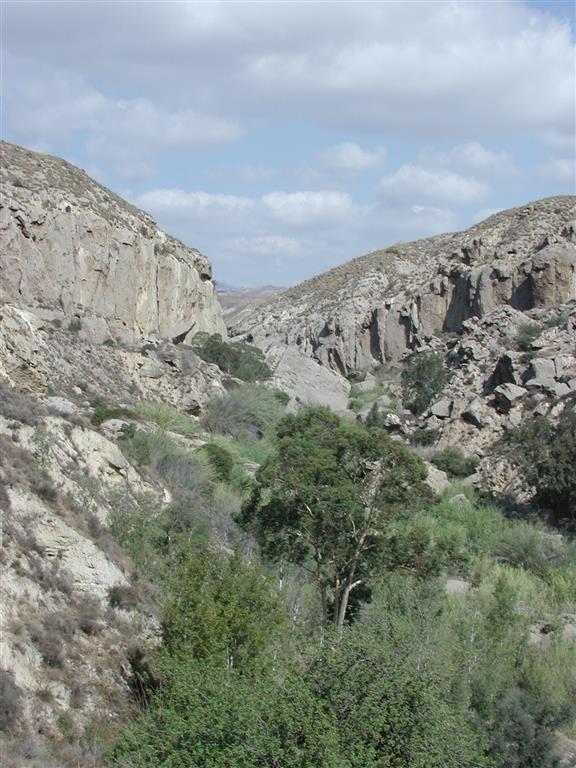 Barranco kárstico del Río Aguas a su paso por Los Molinos