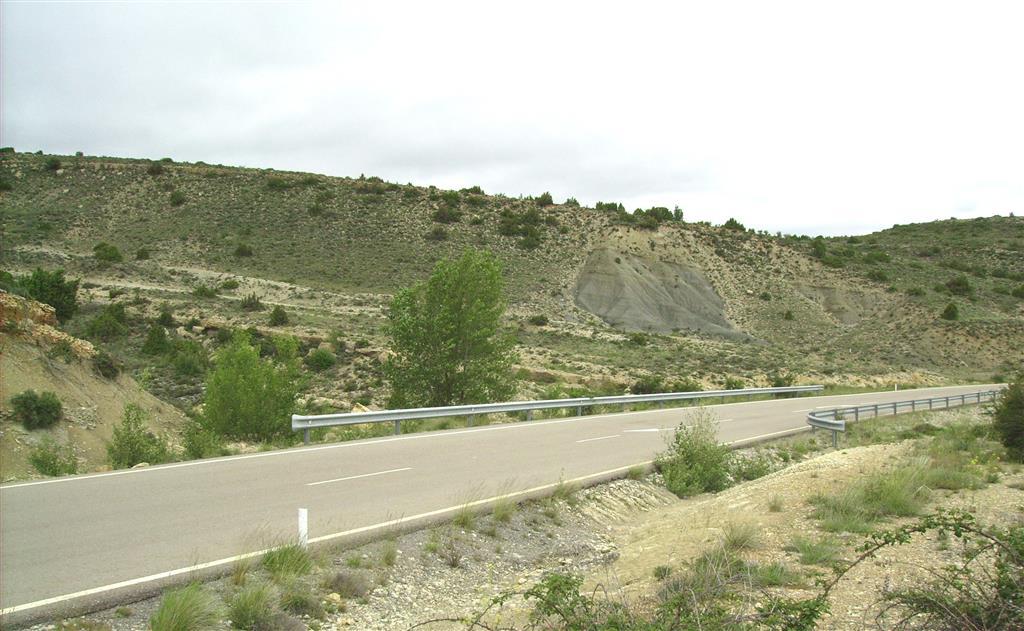 Fm Margas de Forcall (Aptiense inferior). Paraje de La Vaquera, carretera A-226.