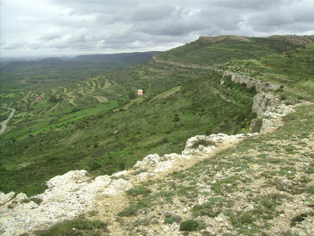 Panorámica de Fm Mosqueruela desde las proximidades del mirador del Puerto de Villarroya.