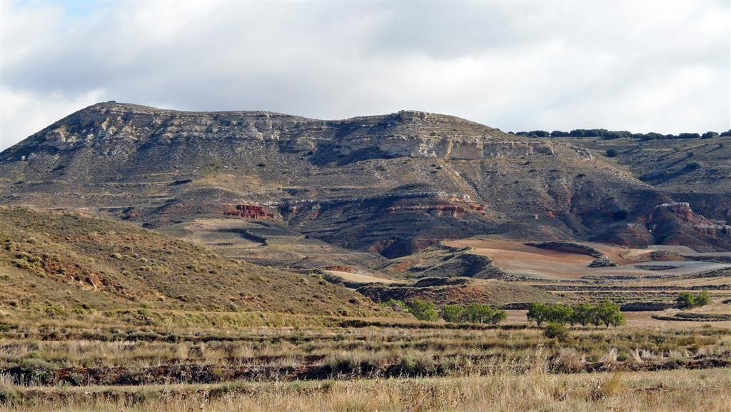 Vistas, al Este, del relleno mioceno continental en el Arroyo Ramblar.