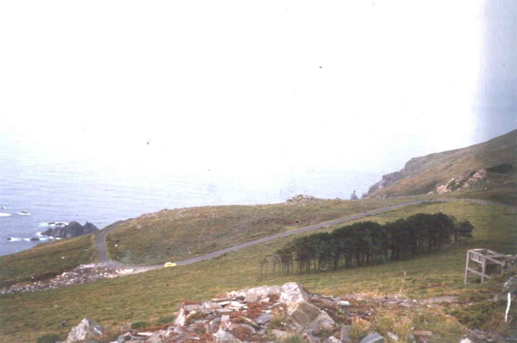 Vista general del Punto de Interés Geológico de Punta Candelaria, desde las proximidades de la antigua cantera de Purrido.