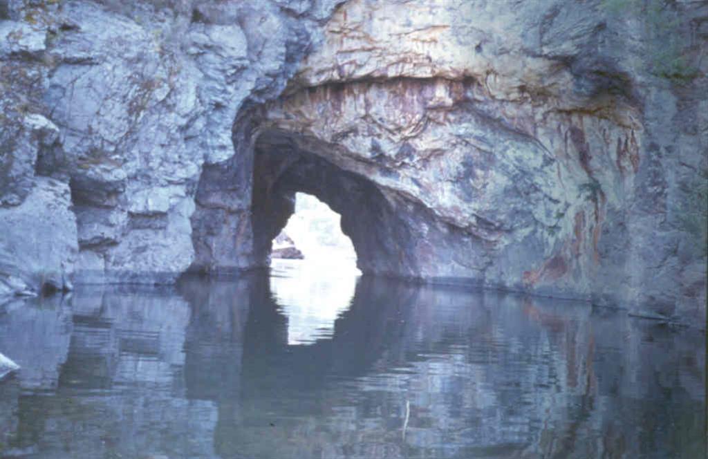 Tunel romano en Montefurado. Foto tomada en 1983