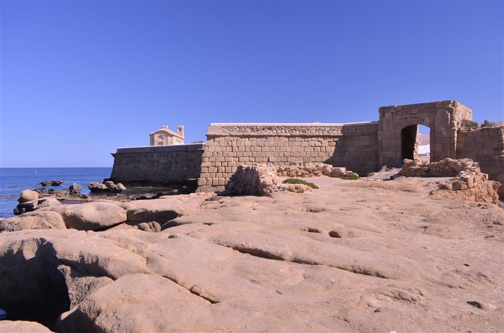 Calcarenitas del Mioceno superior en el Portal de La Cantera (extremo occidental de la isla)