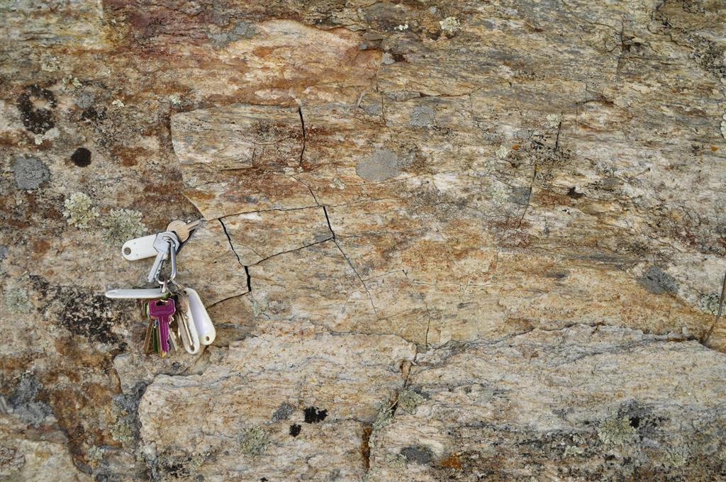 Afloramiento 4: Plano de cizallamiento en los granitos de Juzbado.