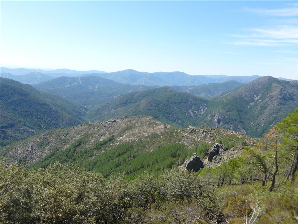 Valle de las Batuecas desde el Portillo