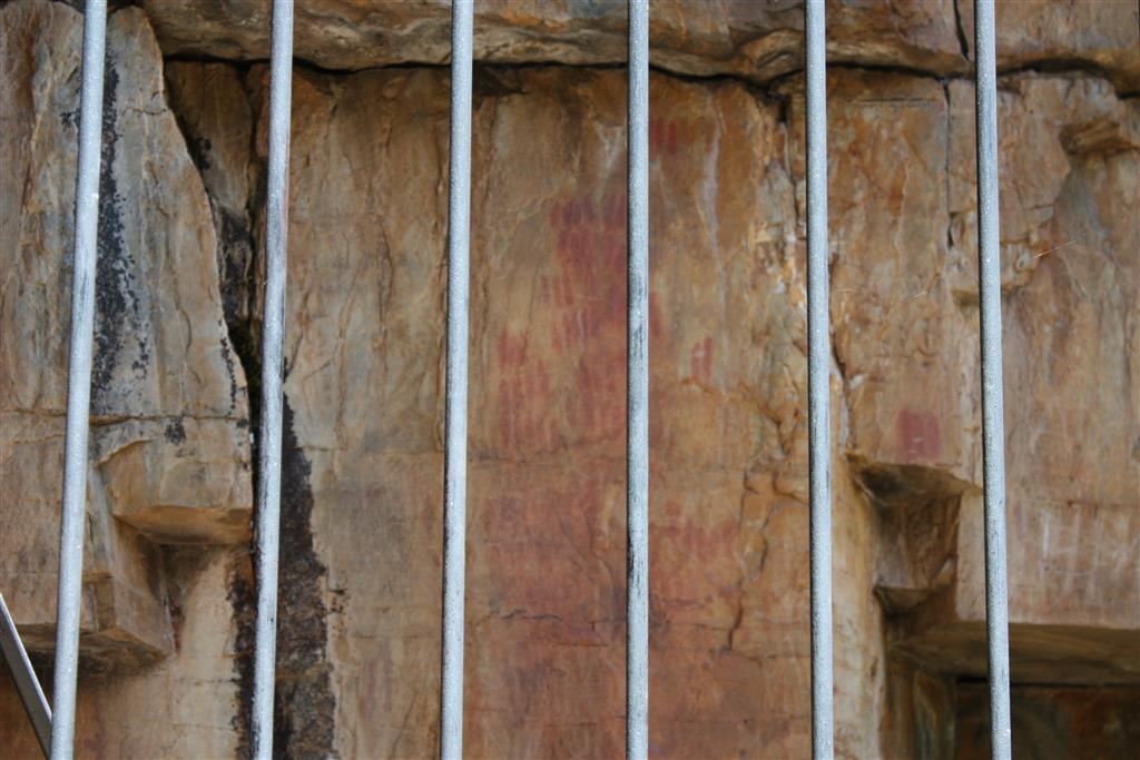 Pinturas rupestres deterioradas