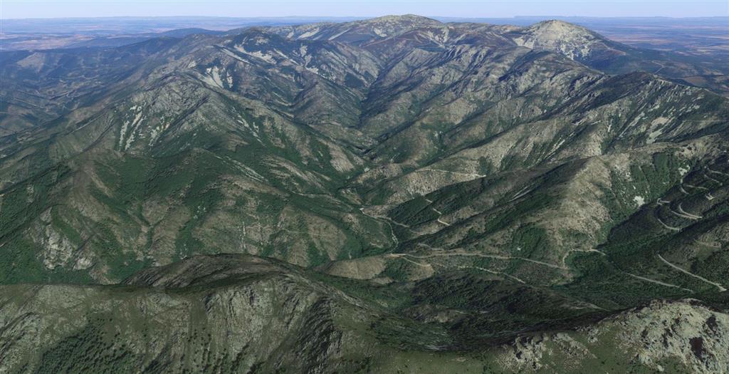 Vista aérea valle de las Batuecas. © 2019 Google Earth