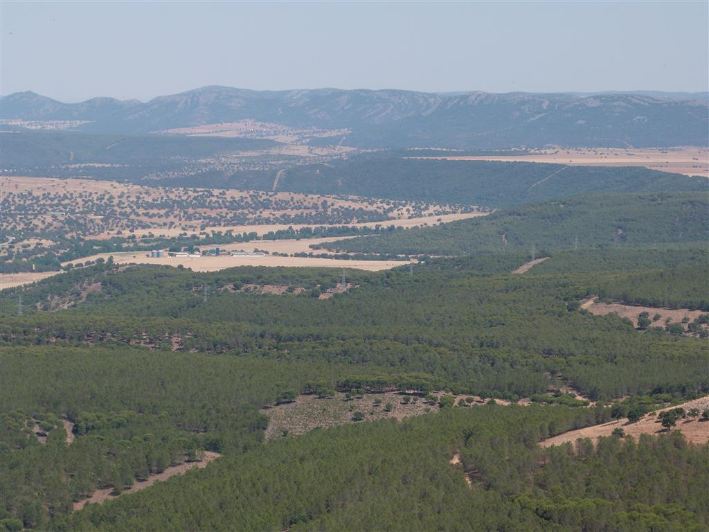 Vista general parte oriental Cuenca sinclinal Guadiana