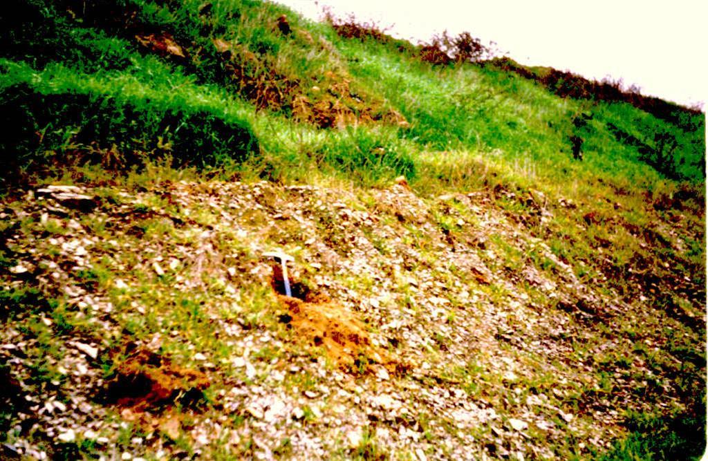 Depósito de relleno de un valle de fondo plano en su confluencia con el río Sió. Cercanías de Mongay.