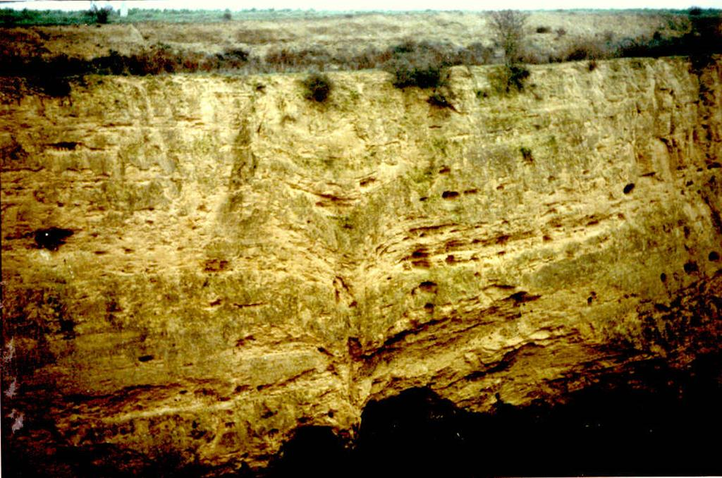 Deformación postsedimentaria de depósitos del Pleistoceno inferior. Paraje de Caserna.